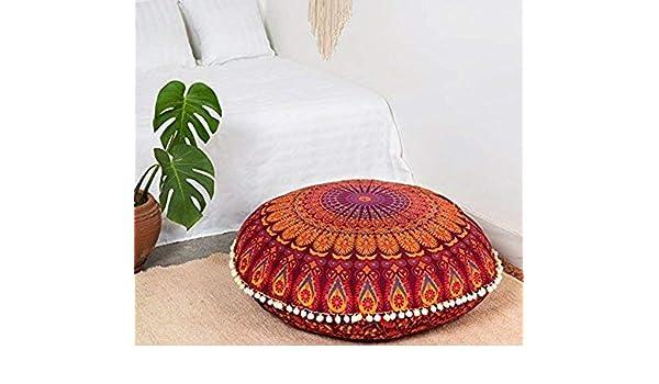 Amazon com: Ambika Designs Large Hippie Mandala Floor Pillow Cover