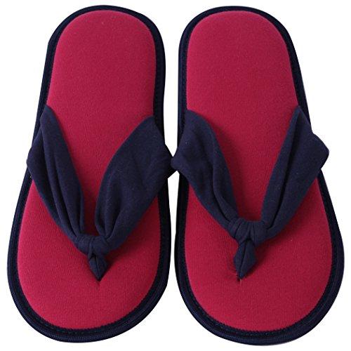 Pantofole Da Casa Pantofole Da Donna, Sottoveste Estive Per La Casa Estiva In Memory Foam, Slip On Slipper Blu Scuro E Rosa Rossa