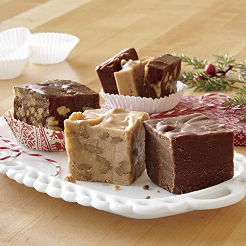 - 1 1/2-lbs. net wt. Old-fashioned Fudge Trio from The Swiss Colony