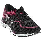 ASICS Women's Gel-Cumulus 19 Running Shoe, Black/Silver/Pink Peacock, 9 Medium US