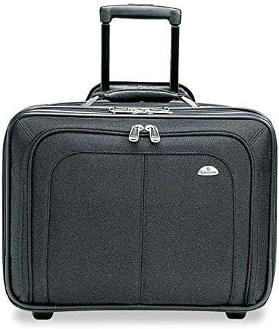 BK Samsonite Zip Away Ballistic Rolling Notebook Case-Rolling Notebook Case,Retractable Handle,14x9x17-1//2 Wholesale CASE of 2