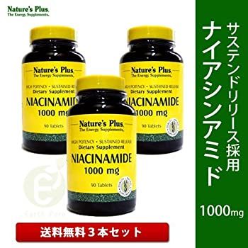 Nature's Plus Niacinamide 1000 mg S/r Tablets Pack Of 3 - 90 TABLETS
