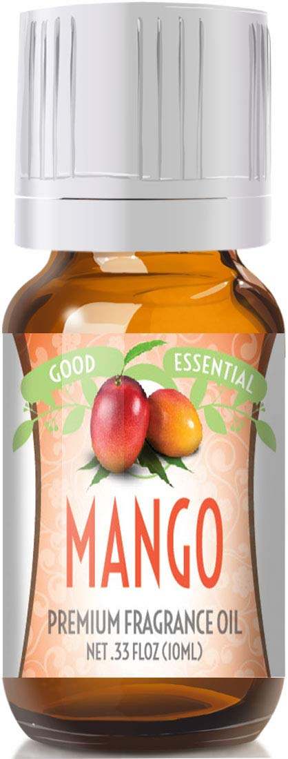 Mango Scented Oil by Good Essential (Premium Grade Fragrance Oil) - Perfect for Aromatherapy, Soaps, Candles, Slime, Lotions, and More!