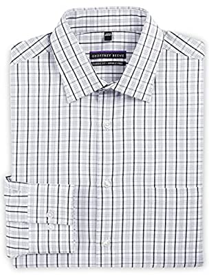 Geoffrey Beene Big and Tall Plaid Dress Shirt