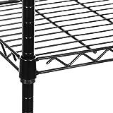 Seville Classics 5-Tier Black Epoxy Steel Wire