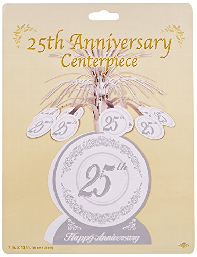25th Anniversary Centerpiece Party Accessory (1 count) (1/Pkg) (Wedding Anniversary Centerpieces)