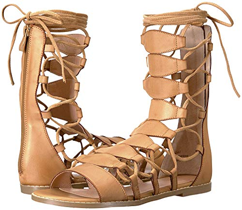 (Very Volatile Women's Tansy Flat Sandal, Tan, 9 B US)