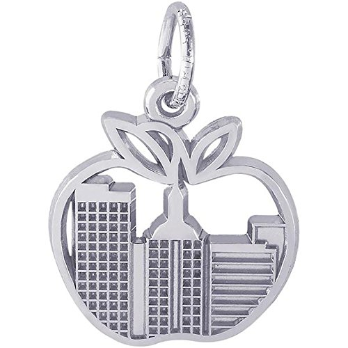 STERLING SILVER NEW YORK BIG APPLE SKYLINE CHARM New York Sterling Silver Charm