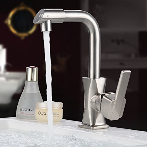Hlluya Professional Sink Mixer Tap Kitchen Faucet The Kitchen cold water faucet304Stainless Steel360Degree swivel sink dish washing basin mixer