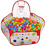 Kuuqa Kids Ball Pit Ball Tent Toddler Ball Pit with Basketball Hoop and Zippered Storage Bag for Toddlers, 4 ft/120cm(Balls not Included)