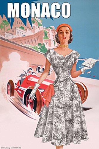 ArtParisienne 1950s Fashion Monaco No. 1 20x30 Poster Semi-Gloss Heavy Stock Paper Print ()