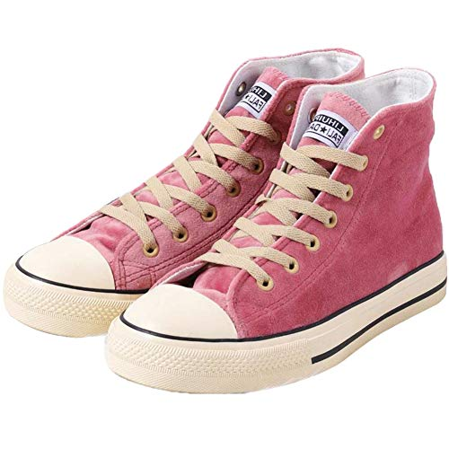 JUSTFASHIONNOW Womens Girl Canvas Shoes Lace-Up Suede Sneaker Hight Top Fashion Walking Shoes Platform Athletic Round Toe Comfy Ankle Boots - Pink 40 ()