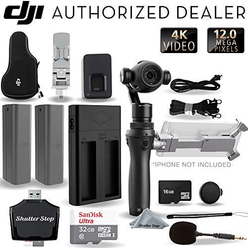 DJI Osmo+ Plus 4K Handheld Gimbal Ultimate Starters Bundle with 2 Batteries, 32GB + More