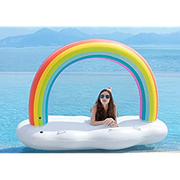 Amazon Com Palm Tree Led Inflatable Pool Float 62