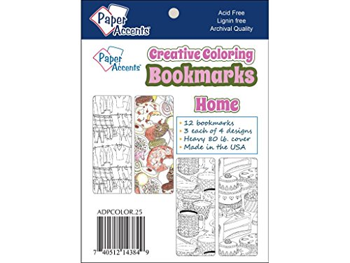 Accent Design Paper Accents. 25 Home Coloring Bookmarks