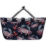 Ocean Sea Crab Anchor Print NGIL Canvas Shopping, Market, Picnic Basket Review