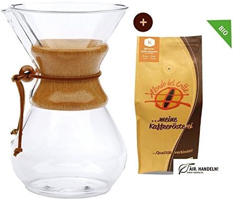 Chemex Cafetera – Juego de jarra para hasta 8 tazas (1200 ml) con ...