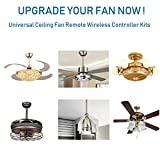 YUKIHALU 3-in-1 Small Size Universal Ceiling Fan