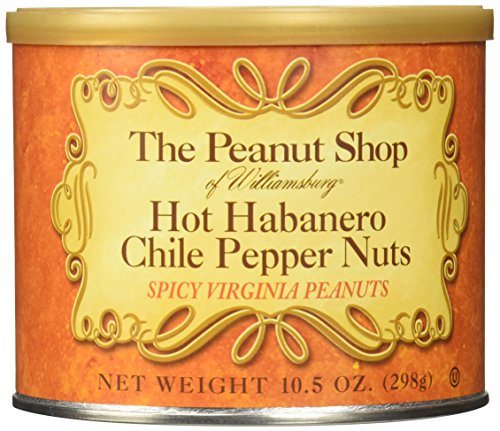 The Peanut Shop of Williamsburg Hot Habanero Chile Pepper Nuts, 10.5 Ounce