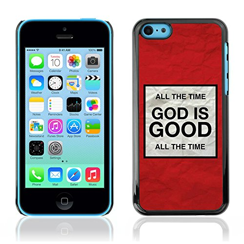 DREAMCASE Citation de Bible Coque de Protection Image Rigide Etui solide Housse T¨¦l¨¦phone Case Pour APPLE IPHONE 5C - GOD IS GOOD
