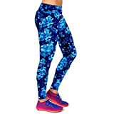 Usstore Printed Stretch Leggings For Women High Waist Fitness Yoga Sport Pants (XL, Blue) For Sale