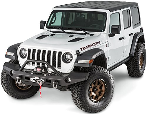 WARN 101337 With Elite Series Full-Width Front Bumper for Jeep JL Wrangler, with Grille Guard Tube ()