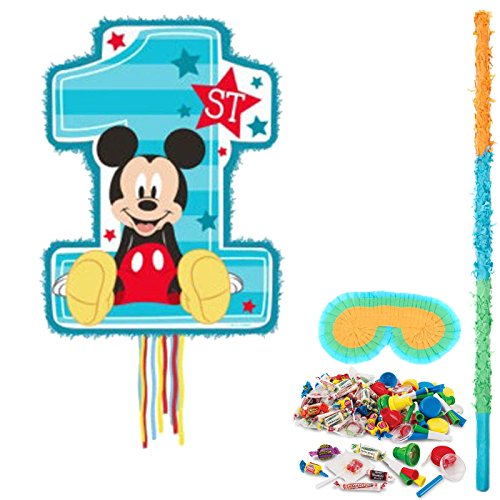Mickey Mouse 1st Birthday Party Supplies Pinata Kit]()