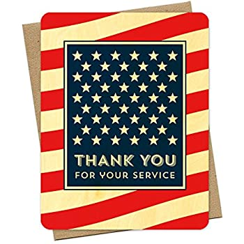 Amazon Com American Thank You Card By Night Owl Paper Goods Arts