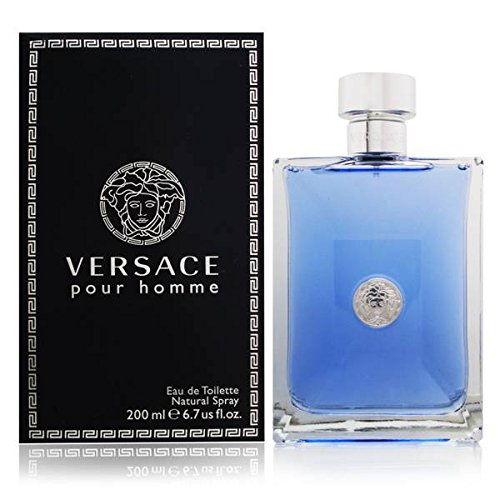 Homme Mens Discount Fragrance - Versace Pour Homme Eau de Toilette Spray for Men, 200 ml, 6.7 Ounce