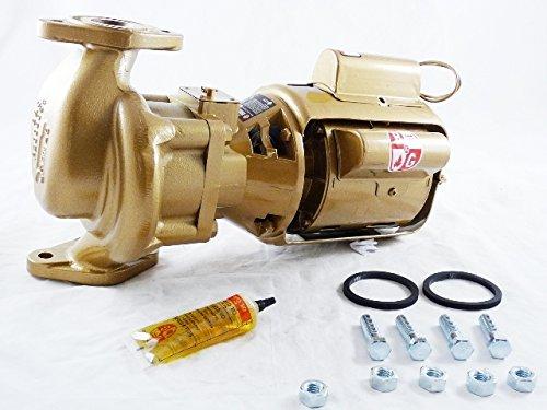 Bell & Gossett 102213 Series Hv Bnfi Three-Piece Oil Lubricated Circulator Pump, Flange Connection, 1/6 hp, 8-1/2'' Height, 15-3/8 '' Length, Bronze by Bell & Gossett