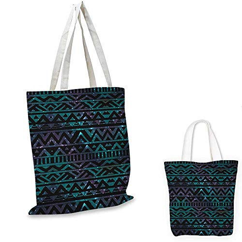 Grunge canvas messenger bag Hand Drawn Space and Cosmos Themed Arrow and Triangle Pattern Vintage Aztec Motifs canvas beach bag Multicolor. 16