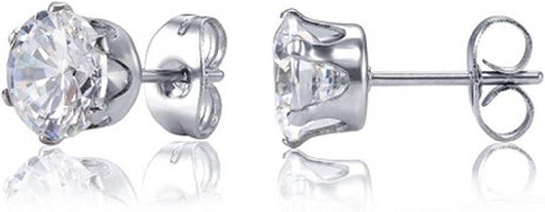 Besjewel Stud Boucles Doreilles 3 mm-5 mm en Acier Inoxydable Chirurgical Hypoallerg/énique Boucles Doreilles pour des Femmes 6 Paires