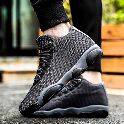 Running Basketball Shoe,Men Net Surface Flat Non-Slip Breathable Lightweight Youth Sports Sneakers Gym Training Shoes Gray by Hotcl (Image #3)