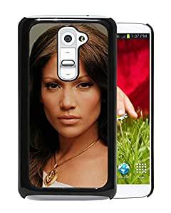 Beautiful Designed Cover Case With Jennifer Lopez Face Hair Chain Room For LG G2 Phone Case