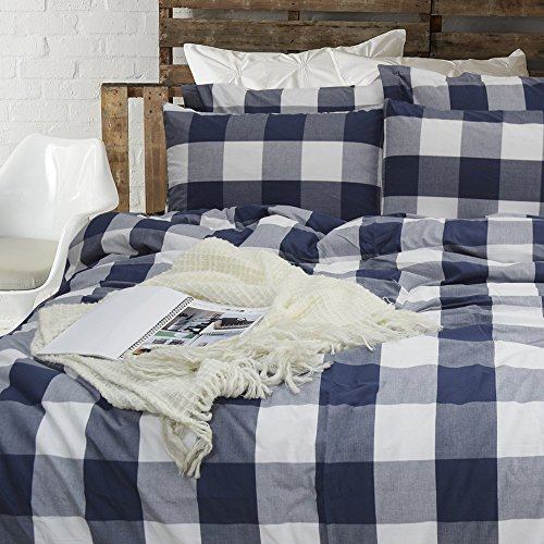 Blue Striped Bedding (Merryfeel 100% cotton yarn dyed Duvet Cover Set - Twin)