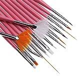 WEIHUALI 15 Pcs/Set Nail Art Decorations Brush Tools fessional Nail Art Brushes Painting Pen For False Nail Tips UV Nail Gel Polish