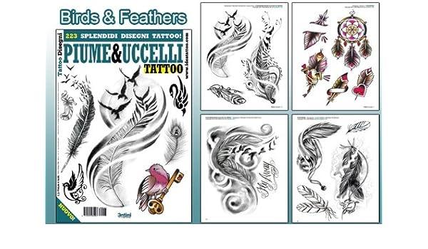 Amazon.com : Birds & Feathers Design 64-page Tattoo Flash Book : Beauty