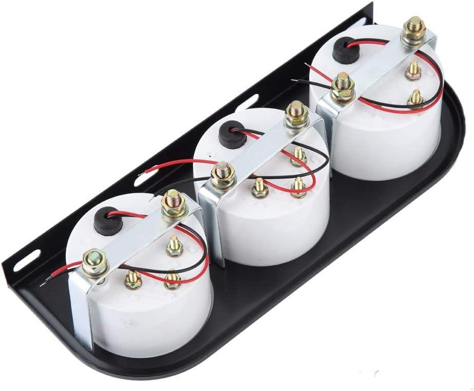 voltm/ètre de jauge de temp/érature deau de Pression dhuile Automotives Gancon Kit de jauge 3 en 1 Universel pour Voiture 12 V 52 mm