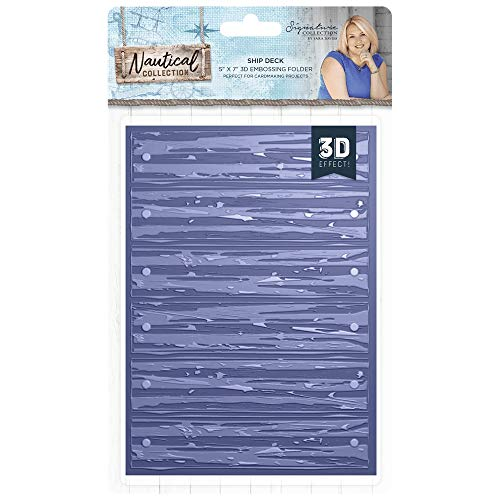 Sara Davies Nautical Signature Collection - 5x7 Embossing Folder - Ship Deck (Shdes Blue Of)