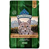 Blue Buffalo Wilderness Rocky Mountain Recipe High Protein Grain Free, Natural Adult Dry Cat Food, Rabbit 10-Lb