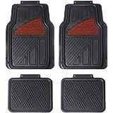Maggift Rubber Floor Mats, for Car, SUVs, Vans & Trucks, Front and Back Heavy Duty Rubber Car Mats, 4pc, Black