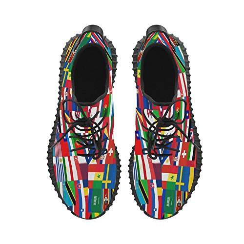 D-story World Country Flag Grus Mens Boost Shoes Boost Sneakers Energy Bounce Breatheable Woven Running Mens Shoes