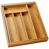 Honey-Can-Do KCH-01079 Bamboo Expandable Cutlery Tray