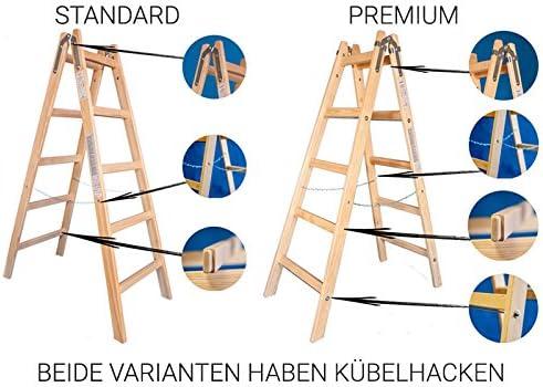 Escalera de madera de dos caras – Escalera 2 x 4 Estándar Tamaño 4 peldaños de escalera presupuesto Escalera: Amazon.es: Bricolaje y herramientas