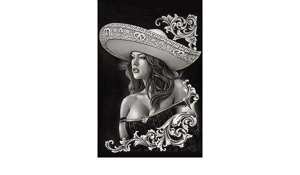 c3e9c0e0d Amazon.com: Ceeze Charra by Big Ceeze Sexy Latina Woman Sombrero Tattoo  Paper Art Print: Big Framed Art: Posters & Prints