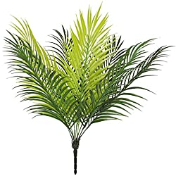 """Bird Fiy 20"""" Artificial Palm Leaf Bush Greenery Plants Faux Fake Tropical Palm Fronds Plant 9 Leaves Palm Tree for Home Party Wedding Decorations"""