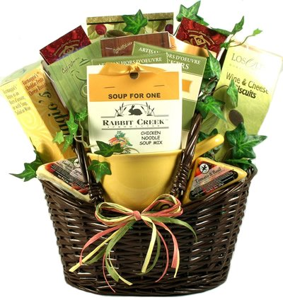 Get Well Gift | Chicken Soup, Tea, Cheese, Crackers and More