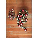 Creative Co-Op XC3067 Country Christmas 72'' L Foam Large Bead Garland with Antique Finish