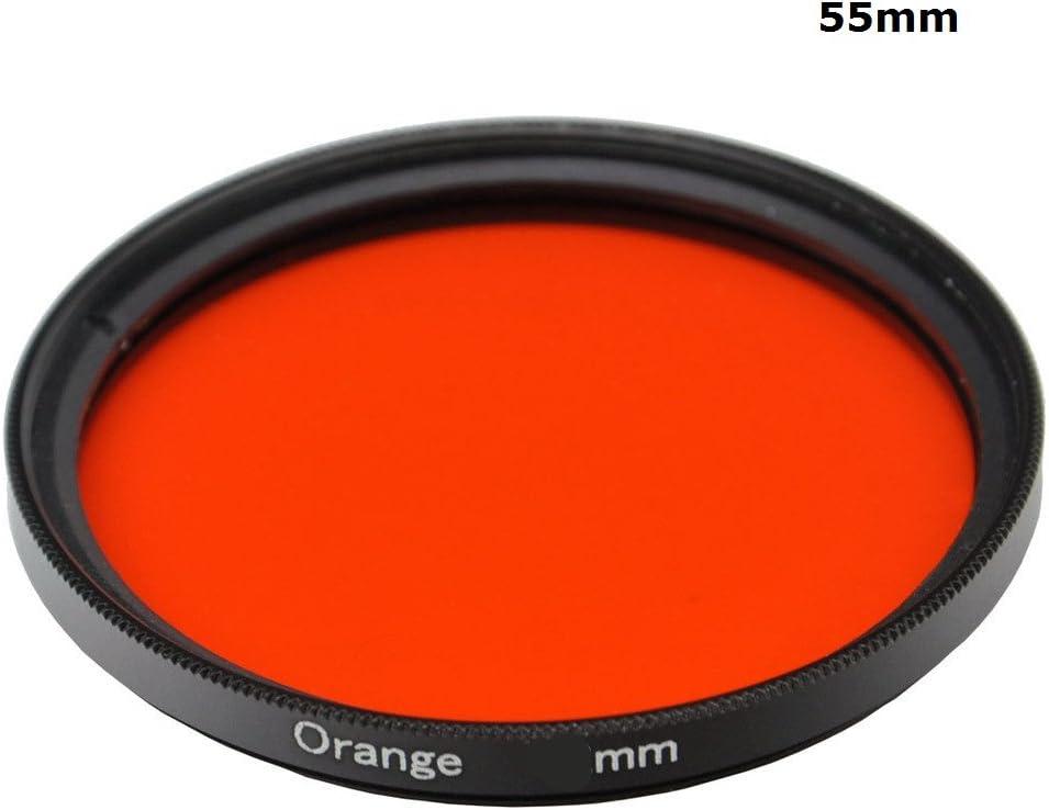 49mm 1pcs 30mm 37mm 40.5mm 43mm 46mm 49mm 52mm 55mm 58mm 62mm 67mm 72mm 77mm 82mm Full Orange Color Lens Filter Protector