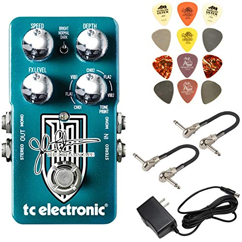 TC Electronic Dreamscape John Petrucci Signature Multi-Effects Pedal Bundle with Power Supply, 2 MXR Patch Cables, and Dunlop Pick Pack